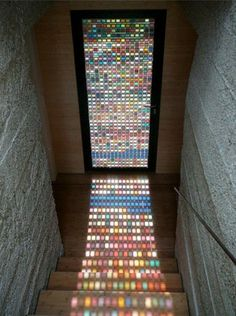Gorgeous pantone stained glass window door made of recycled glass! love the idea By Armin Blasbichler Home Design, Home Interior Design, Interior Decorating, Modern Interior, Home Outside Design, Interior Design Ideas For Small Spaces, Design Art, Decorating Ideas, Sweet Home