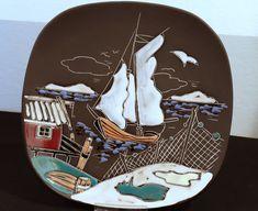 Vintage Scandinavian Art Pottery by Arnold Wiigs Fabrikker Halden Norway AWF,
