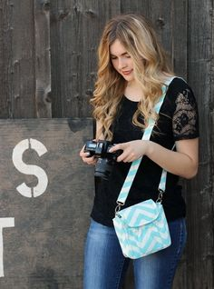 Small Chevron Camera Bag - Perfect for Summer Vacations!