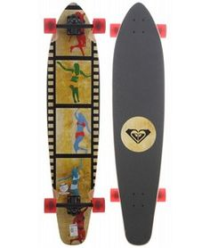 Roxy Tiny Dancers Longboard Skateboard White