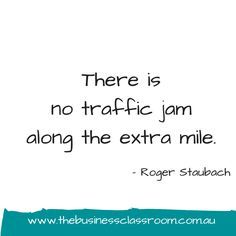 Are you going to go the extra mile?