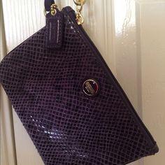 Coach Clutches & Wallets - Small coach purple wristlet.