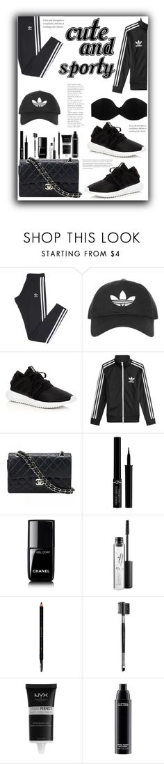 """Cute:&:sporty"" by pretty-posh-luxe ❤ liked on Polyvore featuring adidas, Topshop, adidas Originals, Chanel, Giorgio Armani, MAC Cosmetics, Gucci, Mary Kay, NYX and Cosabella"