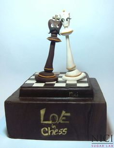 Love in chess - Cake by Nici Sugar Lab Chess Cake, Sports Themed Cakes, Shoe Cakes, Death By Chocolate, Crazy Cakes, Unique Cakes, Cake Decorating Techniques, Cake Cookies, Cupcakes