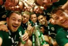 The victorious Irish rugby team jumped onto the selfie bandwagon in the post-match celebrations in Paris. Irish Rugby Team, Rugby Men, Six Nations, Sport Icon, Rugby Players, Man United, Isle Of Man, Ronald Mcdonald, Champion