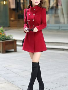 red millitary coats women Wool coat Cashmere winter coat large size plus size cloak Hoodie cape Hooded Cape/clothing /jacket/dress A098 on Etsy, $41.78 Red Winter Dresses, Winter Outfits, Holiday Dresses, Cool Outfits, Warm Jackets For Women, Coats For Women, Cape Clothing, Red Coat Outfit, Winter Coat