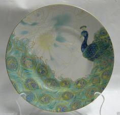 222 FIFTH LAKSHMI SALAD PLATES Set of 4 Brand New in Box Peacock Fine China #222Fifth    love these