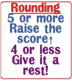 Rounding Rhyme from Yearn to Learn on TeachersNotebook.com -  (1 page)
