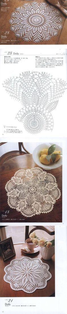 Las servilletas milagrosas. Crochet Tablecloth, Crochet Doilies, Crochet Mandala, Diy And Crafts, Knitting, Creative, Poufs, Pattern, Granny Squares