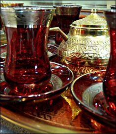 tea set in market, Istanbul, Turkey  tea? | Flickr - Photo Sharing!