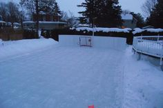 First Week of March 2015, Spring skating begins On the Winchester Invitational Backyard Ice Hockey Rink.