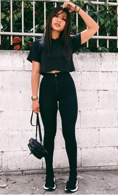 Best Jeans For Women Boyfriend Cut Jeans – thedearlover Basic Outfits, Mode Outfits, Girly Outfits, Fall Outfits, Casual Outfits, Fashion Outfits, Fashion Clothes, Casual Ootd, Dress Fashion