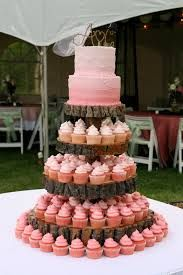 pink ombre cupcake tower - Google Search