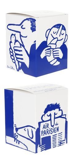 BICHROMIE INTERESSANTE Jean Jullien. Candle packaging for French store Colette. Candle smells like Paris!
