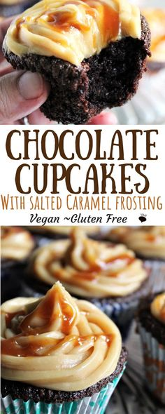 Gluten free vegan chocolate cupcakes that are easy to make with a few simple ingredients and come out moist and delicious every time! All you need is a bowl and a whisk an some basic ingredients and you can make these perfect chocolate cupcakes! #veganchocolatecake #vegancupcakes #glutenfreeveganchocolatecake #easyvegancupcakes #thehiddenveggies