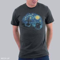 Howl's Moving Night T-Shirt $7 Howl's Moving Castle tee at shirtwoot! today only!