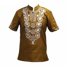 African Clothing for Embroidered Dashiki Casual Short Sleeve T-Shirt Men Geometric Pattern Design Royal Enfield Accessories, African Shirts, African Clothes, African Dress, Motorcycle Style, Enfield Motorcycle, African Men Fashion, Mens Fashion, Easy Wear