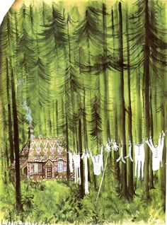 Tree illustration BlackForest by Ronald Searle Ludwig Bemelmans, Ronald Searle, Children's Book Illustration, Book Illustrations, Forest Illustration, House In The Woods, Wicca, Art Inspo, Illustrators