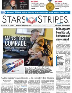 Jan. 29, 2014 #military #frontpage #newspaper