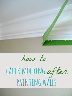 How to Caulk Molding AFTER Painting Walls - Sometimes it might work out that you need to caulk and paint newly installed molding after painting a wall. It's no…