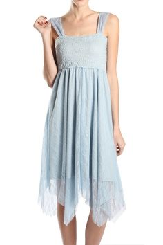 A'reve Soft Blue Lace Dress