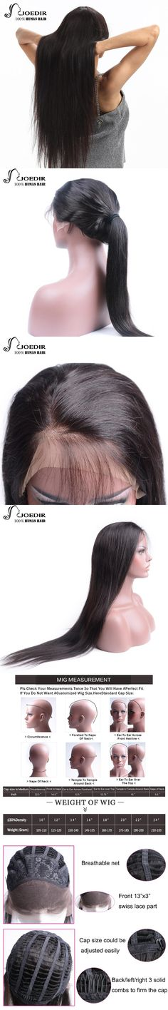 Joedir Wig Lace Front Human Hair Wigs For Black Women Brazilian Remy Straight Lace Wig Human Hair Wig 10-24 Inch Free Shipping