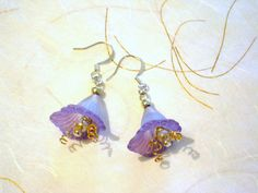 Acrylic flower earrings.  Great for Spring!