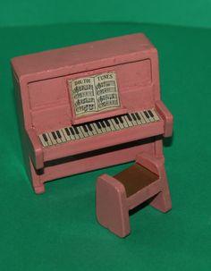 Vintage Dolls House Early Dol Toi Piano & Stool Ref KM10975 | eBay