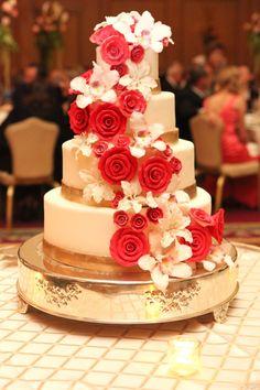 Found on WeddingMeYou.com - Lucky Red Asian Wedding Cakes