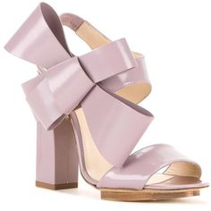 Delpozo oversized bow sandals (3.320.235 COP) ❤ liked on Polyvore featuring shoes, sandals and calfskin shoes
