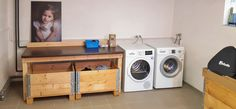 woodworking ideas Laundry Table, Woodworking Ideas, Washing Machine, Home Appliances, House Appliances, Appliances