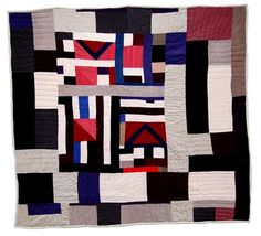"Gee's Bend Quilts, Mary Lee Bendolph, Untitled. 82"" x 76"".  At Elizabeth Leach Gallery (Portland, Oregon)"
