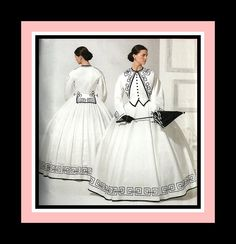 HIGH SOCIETY VICTORIAN-Two Piece Dress-Historical Sewing Pattern-Artful Soutache Design-Pleating-Boned Bodice-Bust Pad-Uncut-Size 16-24-Rare by FarfallaDesignStudio on Etsy