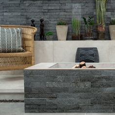 Natural stone tiles are cut from materials such as sandstone, slate, marble and travertine. The stone is quarried from the ground, and cut and shaped to size – ready for your home! Feature Walls, Trendy Home, Stone Tiles, Travertine, Slate, Natural Stones, Floors, Marble, Home Decor