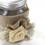 DIY Burlap Mason Jar