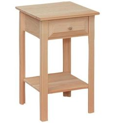 Exceptionnel [16 Inch] White Horse Side Table   Wood You Furniture | Jacksonville, FL