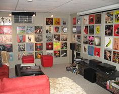 vinyl records and album covers hit a hip high note in home decor