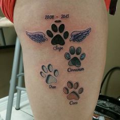 Dog memorial tattoos