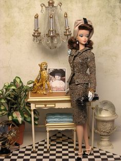 """Tweed Indeed"" suit with an OOAK turban from The Couture Touch"