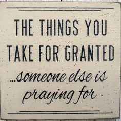 Being grateful is important