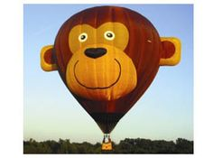 Gordo the Monkey makes an appearance at the Great Galena Balloon Race in Galena, IL.