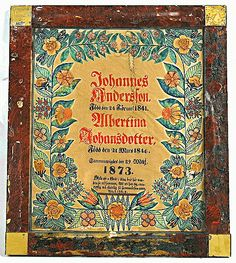 Bröllopstavla | Hallands Kulturhistoriska Museum