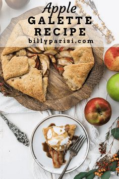 Check out how to make this easy recipe for an apple galette. It uses homemade pie dough that is then stuffed up with apple sand baked to perfection. You can also add on some salted caramel or even bake it with pre-made puff pastry dough! This is the perfect easy to make dessert. #pie #galette #crostata Apple Galette, Galette Recipe, Puff Pastry Dough, Easy To Make Desserts, Apple Pear, Homemade Pie, A Food, Food Processor Recipes, Caramel