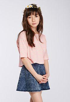 Boxy Striped Drop-Sleeve Tee (Kids) | Forever 21 girls | #f21kids