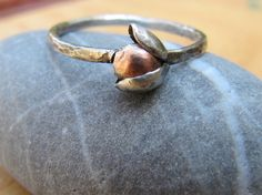 Copper and Silver Rose Blossom Ring $54.00 #ring #copper #silver #jewelry