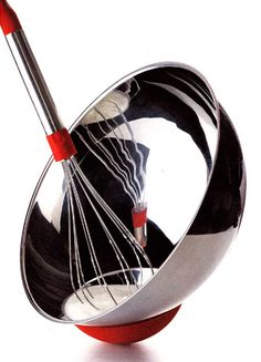 Tipped whisking bowl.