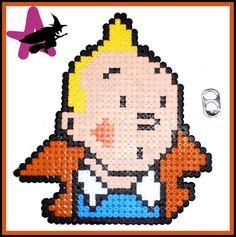 Tintin hama perler by Mikami