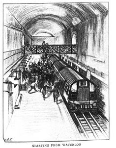 Another image from The Graphic of 16 July 1898 showing the opening of the Waterloo & City Line.