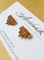 t h e A e s t h e t i k ~ contemporary women's designer clothing EARRINGS :: ART DECO EMPIRE VENETIAN GLASS EARRINGS