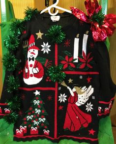 5435b4a9312 Xlg women s long ugly Christmas sweater   W-7